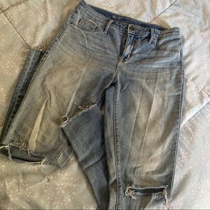 MOSSIMO Denim High Rise Jeggings Jeans Ripped Knee